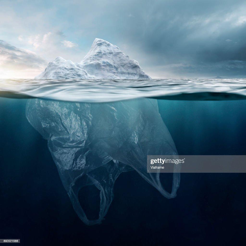 Iceberg Plasticbag : Stock Photo