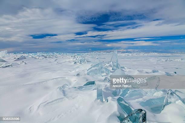 Iceberg stack at Baikal lake