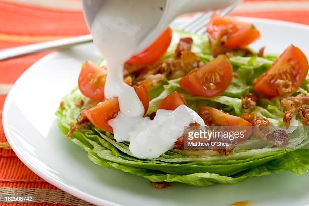 """Iceberg """"wedge"""" Salad with bacon & tomatoes"""