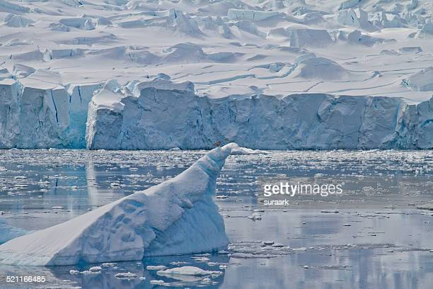iceberg while cruising drake passage, antarctica - drake passage stock photos and pictures