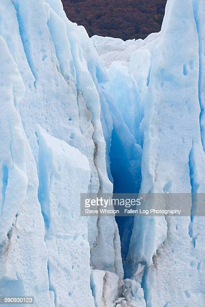 iceberg with cracks - crevasse stock photos and pictures