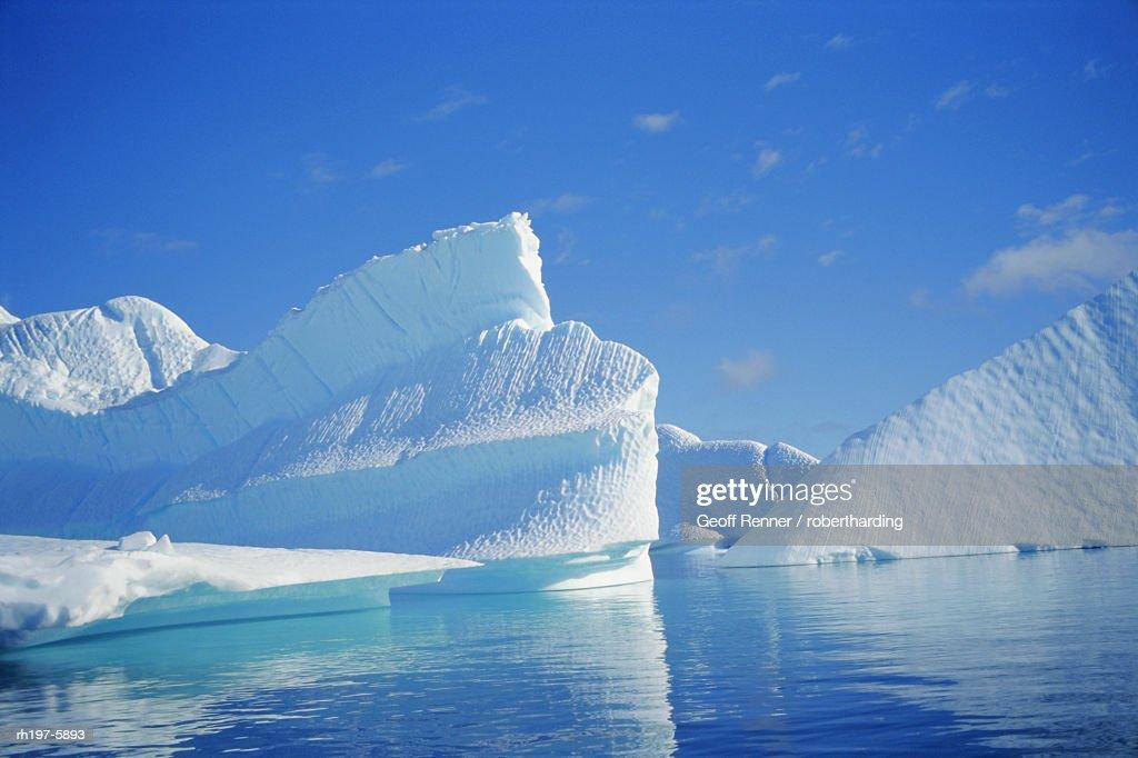 Icebergs, Antarctica : Foto de stock