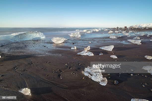 Icebergs at Jokulsarlon beach Iceland