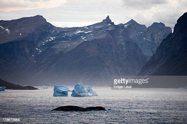 Icebergs at Prince Christian Sound entrance
