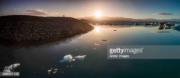 Icebergs at the Jokulsarlon, Iceland