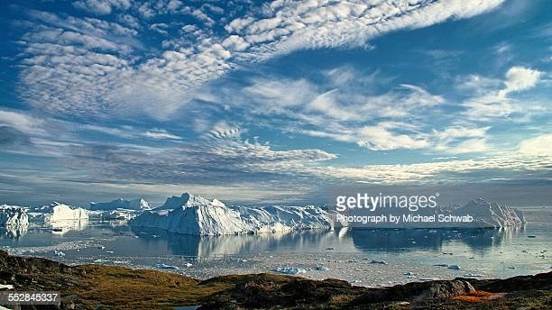 Icebergs at the mouth of Ilulissat Icefjord