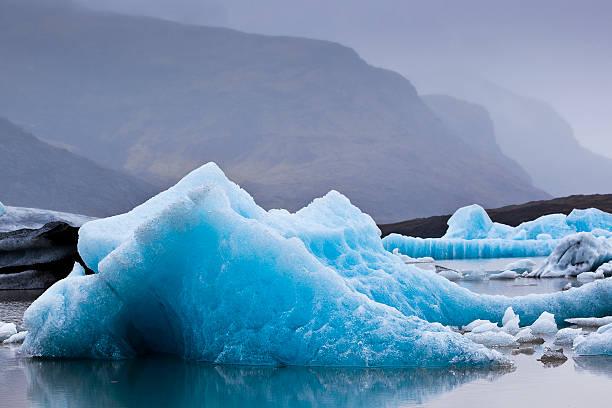 Icebergs carved from Fjallsjokull glacier in Breidarlon glacial lagoon.