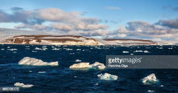 Icebergs floating in Arctic
