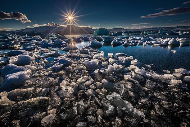 Icebergs Floating In The Jokulsarlon, Iceland Wall Art