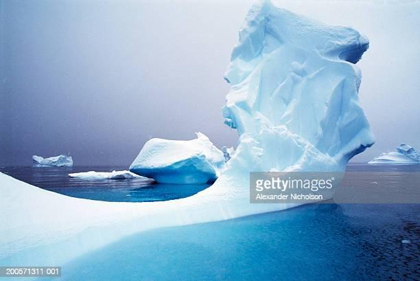 icebergs floating on antarctic peninsula - antarctic peninsula stock pictures, royalty-free photos & images