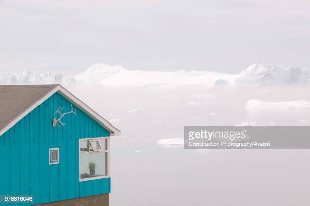 Icebergs from the Jacobshavn glacier or Sermeq Kujalleq drains 7% of the Greenland ice sheet and is the largest glacier outside of Antarctica It...