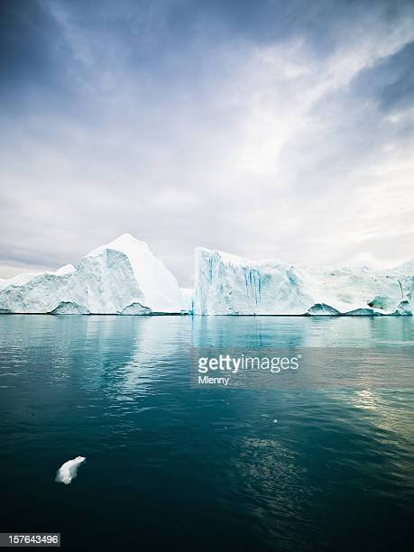 Icebergs in Arctic Waters West Greenland
