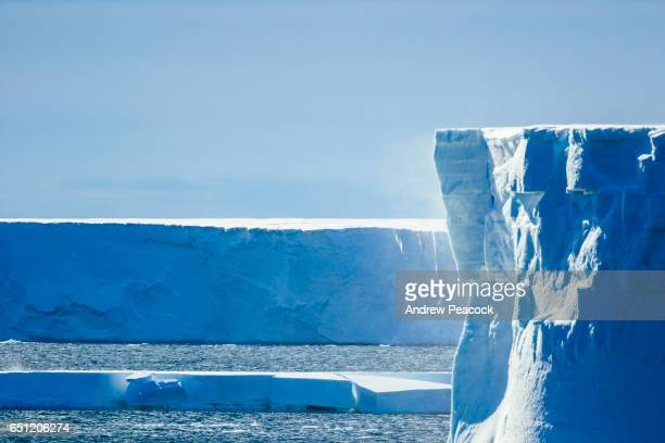 Icebergs in Bartlett Inlet, north coast of Edward VII Peninsula, East Antarctica