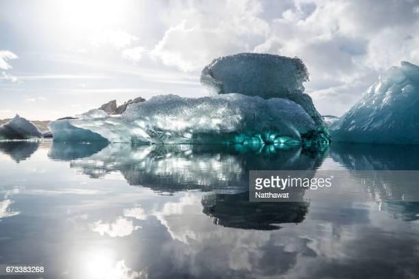 Icebergs in Jokulsarlon Glacier Lagoon.
