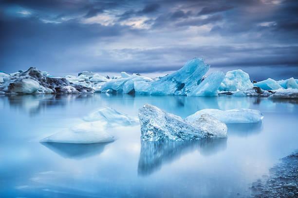 Icebergs In Jokulsarlon Lagoon Wall Art