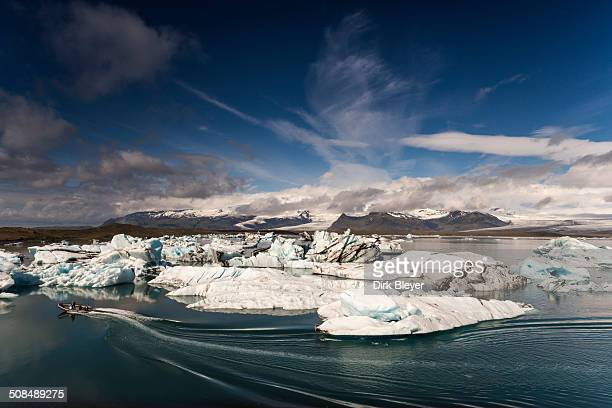 icebergs, jokulsarlon glacier lagoon, vatnajokull glacier, austurland, east iceland, iceland - austurland stock-fotos und bilder