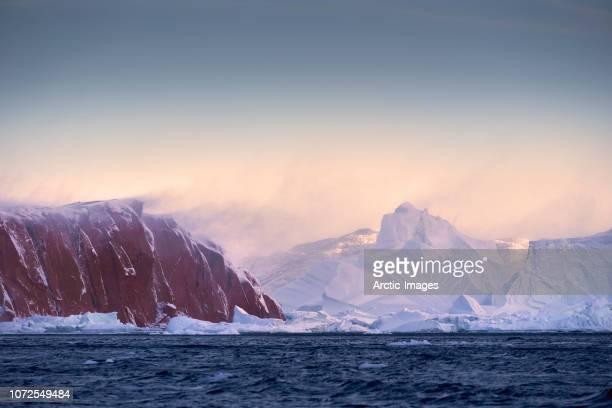 Icebergs, Rode Fjord, Scoresbysund, Greenland
