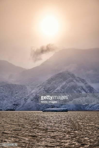 Icebergs, Rypefjord, Scoresbysund, Greenland