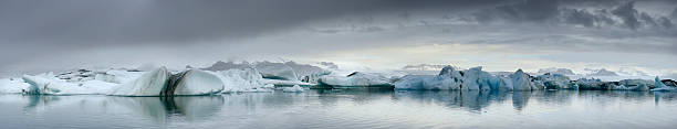 Icebergs Panorama Wall Art
