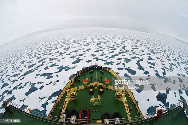 Icebreaker in Arctic Ocean