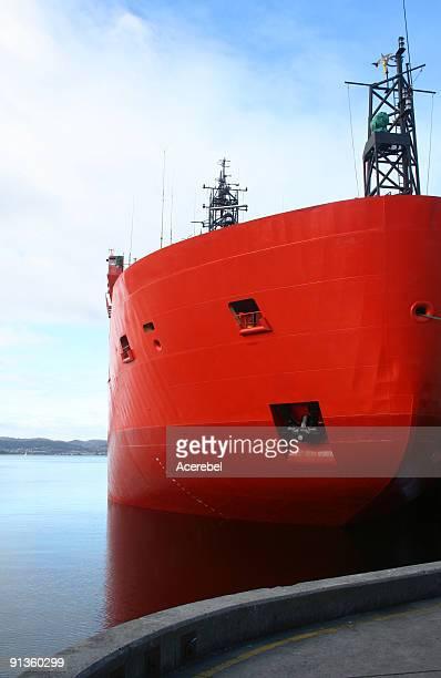 Icebreaker in harbour