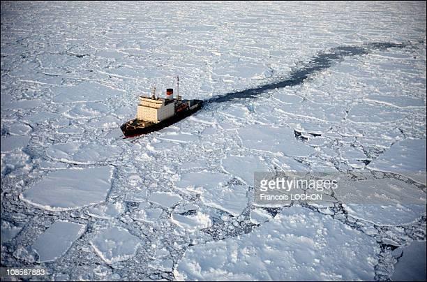 Icebreaker Kapitan Klebnikov in Antarctica on January 01th 1997