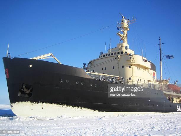 icebreaker on baltic sea