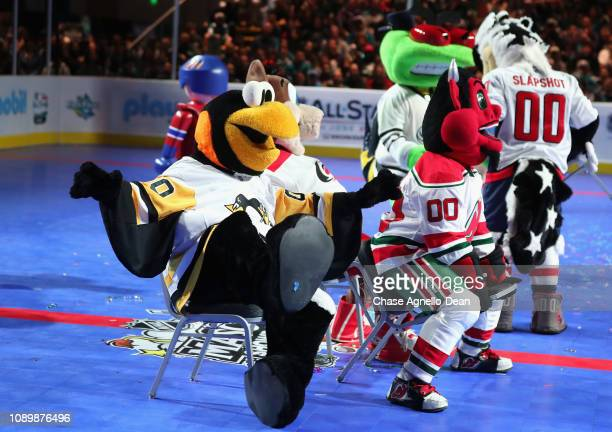 Iceburgh of the Pittsburgh Penguins NJ Devil of the New Jersey Devils Stinger of the Columbus Blue Jackets and Slapshot of the Washington Capitals...