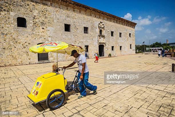 Ice-cream seller near Museum de las Casas Reales