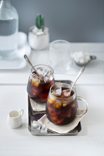 Iced black coffee. - gettyimageskorea