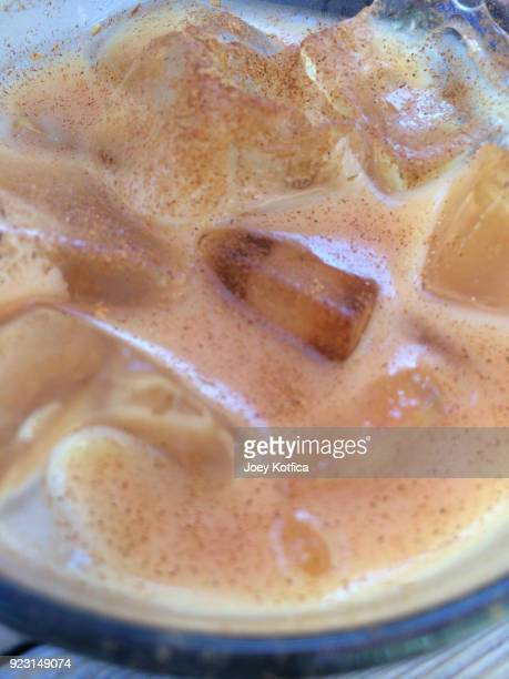 Iced cafe latte coffee
