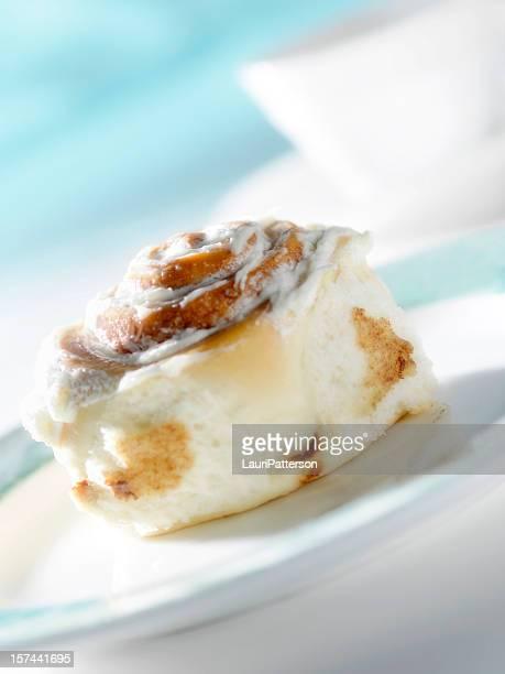 Iced Cinnamon Bun with Coffee