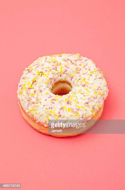 Iced doughnut with sprinkles