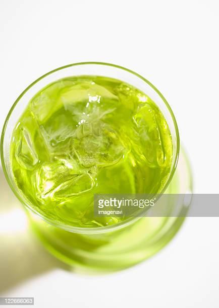 iced greentea - 温かいお茶 ストックフォトと画像