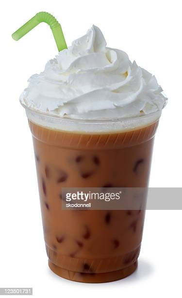 iced mocha coffee with whipped cream - whipped cream stock pictures, royalty-free photos & images