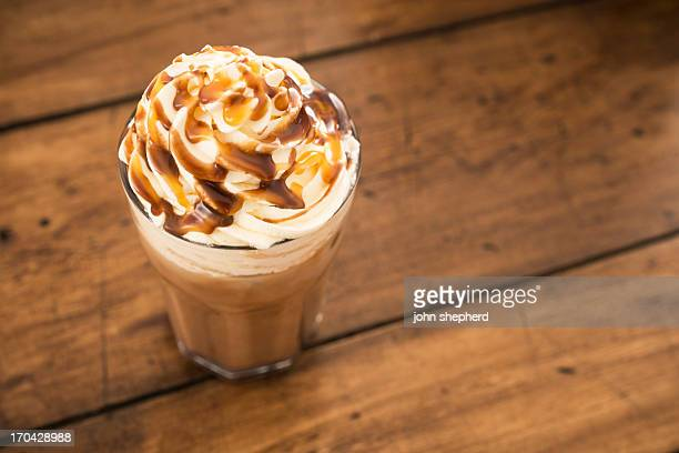 iced mocha - caramel stock pictures, royalty-free photos & images