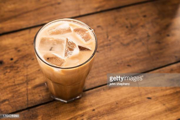 iced mocha - iced coffee stock pictures, royalty-free photos & images