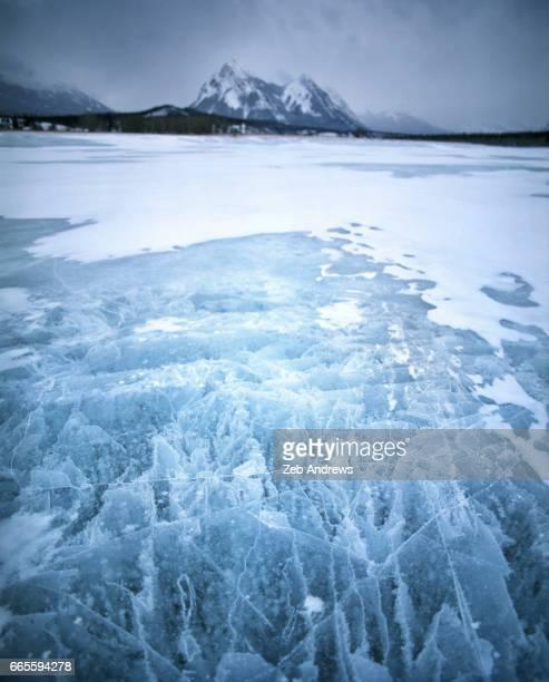 Icefield at Abraham Lake, Alberta, Canada