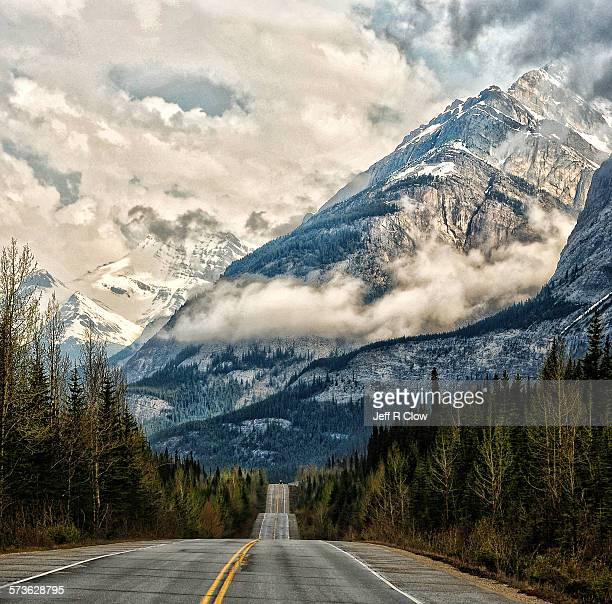 icefields parkway road to the clouds - north america stock pictures, royalty-free photos & images