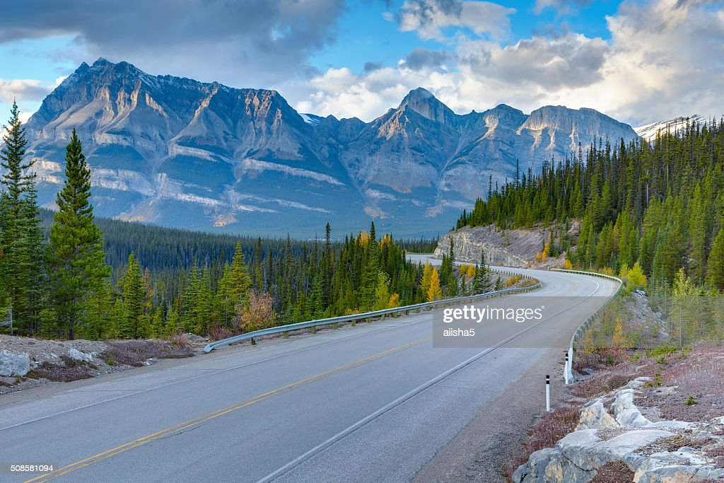 Icefields Parkway sunset view : Stock Photo