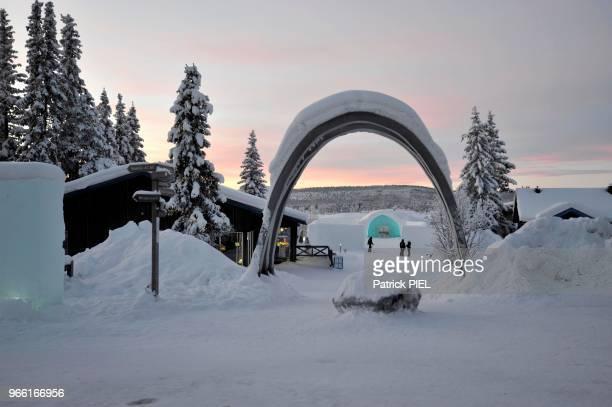 Icehotel, batiment annexe le 29 janvier 2016, Kiruna, Suède.