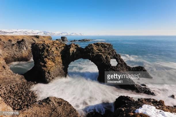 Iceland, Arnarstapi cliffs