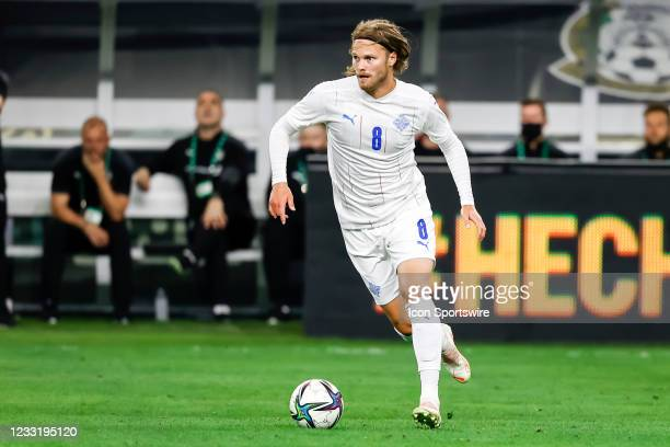 Iceland Birkir Bjarnason in action during the game between Mexico and Iceland on May 29, 2021 at AT&T Stadium in Arlington, Texas.