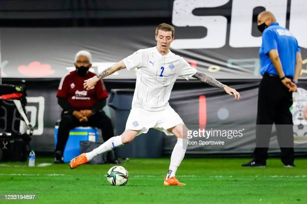 Iceland Birkir Mar Saevarsson in action during the game between Mexico and Iceland on May 29, 2021 at AT&T Stadium in Arlington, Texas.
