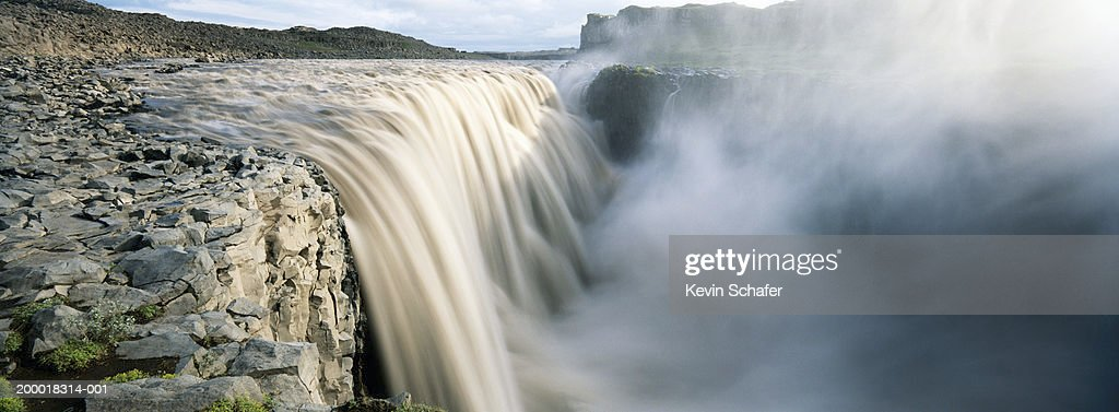 Iceland, Dettifoss Waterfall (blurred motion) : Photo