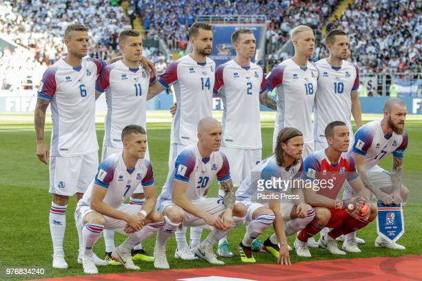 Iceland during the game between Argentina and Iceland valid for the first round of group D of the 2018 World Cup held at the Spartak stadium in...