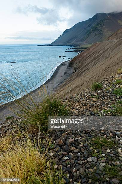 iceland, eastfjords, beach - austurland stock pictures, royalty-free photos & images