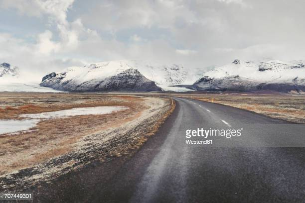Iceland, empty country road