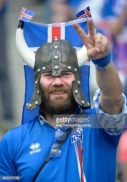 Iceland fan before the UEFA EURO 2016 quarter final match between France and Iceland at Stade de France on July 3 2016 in Paris France France won the...