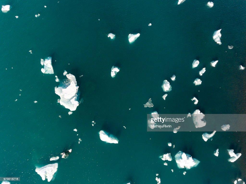 Iceland from the sky : Jokulsarlon : Stock Photo